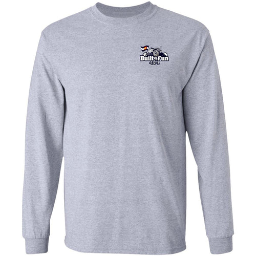 Built4Fun grey 2-sided print G240 Gildan LS Ultra Cotton T-Shirt