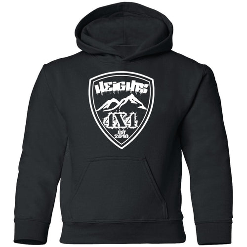 Heights 4x4 crest white logo G185B Gildan Youth Pullover Hoodie