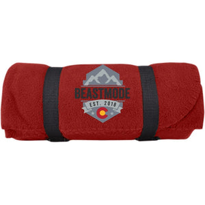 Beastmode embroidered logo BP10 Port & Co. Fleece Blanket