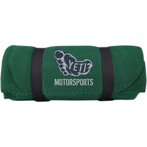 Yeti silver embroidered logo BP10 Port & Co. Fleece Blanket