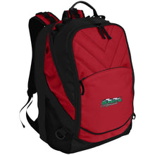 Hundt's Motorsports silver embroidered BG100 Port Authority Laptop Computer Backpack