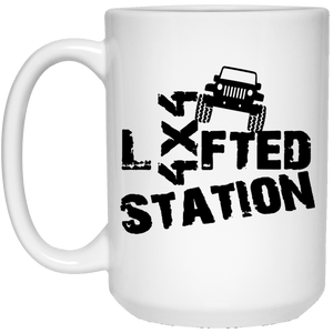Lifted Station 21504 15 oz. White Mug