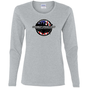 Combat Crawlers G540L Gildan Ladies' Cotton LS T-Shirt