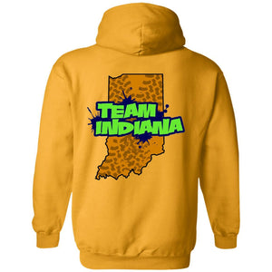 WWSD 2-sided w/ Team Indiana back G185 Gildan Pullover Hoodie 8 oz.