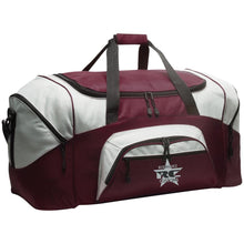Rodriguez Customs silver and black embroidered logo BG99 Port & Co. Colorblock Sport Duffel