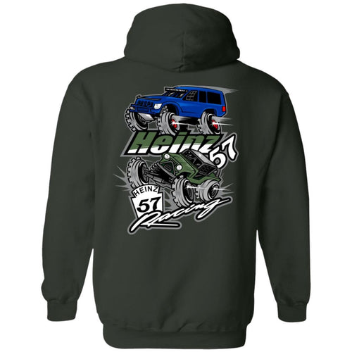 H57 Racing 2-sided print G185 Gildan Pullover Hoodie 8 oz.