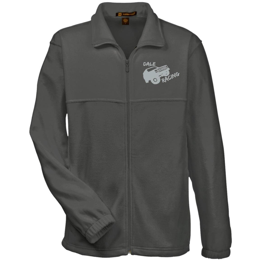 Dale Racing silver embroidered logo M990 Harriton Fleece Full-Zip