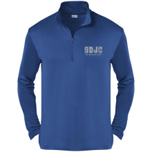 SDJC silver embroidered logo ST357 Sport-Tek Competitor 1/4-Zip Pullover