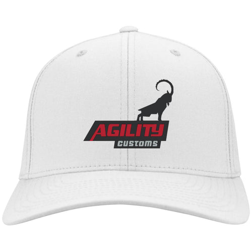 Agility Customs embroidered C813 Fullback Port Authority Flex Fit Twill Baseball Cap
