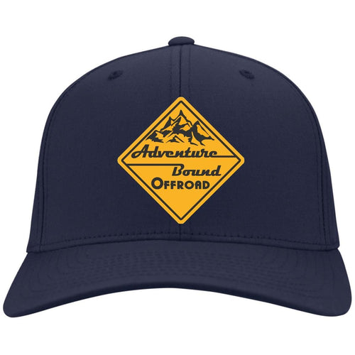 Adventure Bound Offroad gold embroidered logo C813 Port Authority Fullback Flex Fit Twill Baseball Cap