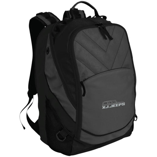 XJ Jeeps silver embroidered logo BG100 Port Authority Laptop Computer Backpack