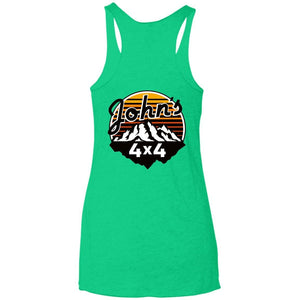 John's 4x4 2-sided print NL6733 Next Level Ladies' Triblend Racerback Tank