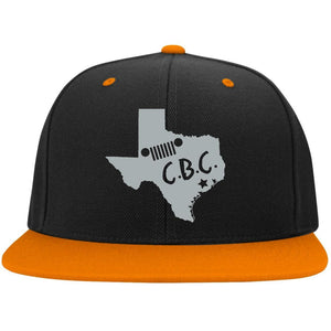 C.B.C. embroidered silver logo STC19 Sport-Tek Flat Bill High-Profile Snapback Hat