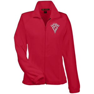 Flop Shop silver embroidered logo M990W Harriton Women's Fleece Jacket