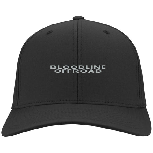 Bloodline Offroad silver embroidered logo C813 Port Authority Flex Fit Twill Baseball Cap