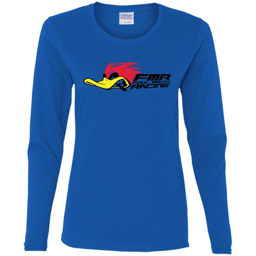 Foul Mouth Racing G540L Gildan Ladies' Cotton LS T-Shirt