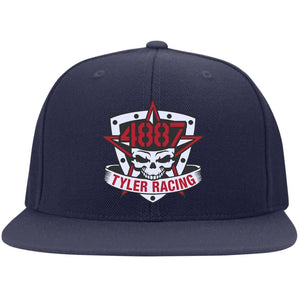 Tyler Racing embroidered 6297F Fullback Flat Bill Twill Flexfit Cap