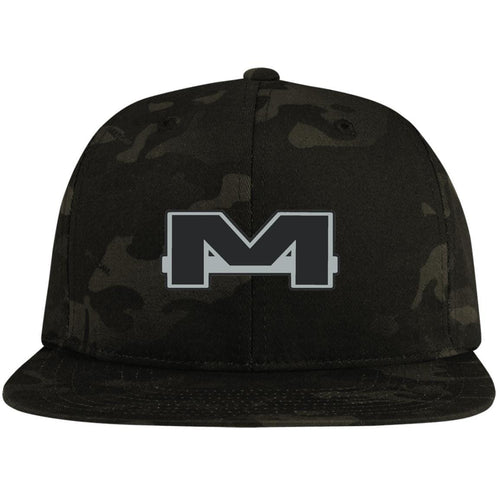 MOAB Motorsports silver embroidered STC19 Sport-Tek Flat Bill High-Profile Snapback Hat
