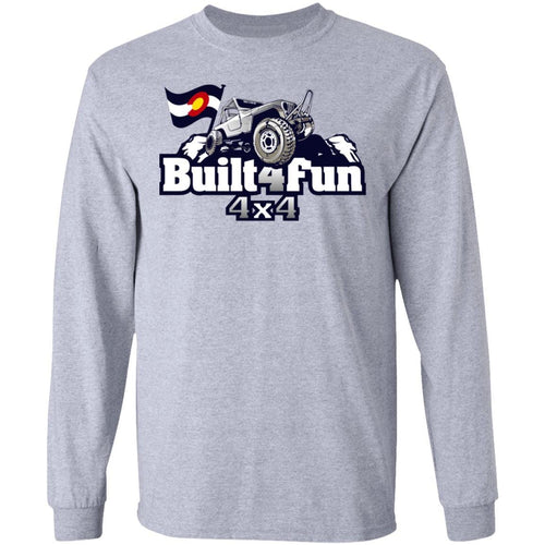 Built4Fun grey G240 Gildan LS Ultra Cotton T-Shirt