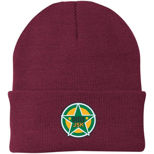 JSK_Star embroidered logo CP90 Port Authority Knit Cap