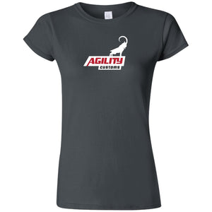 Agility Customs white logo G640L Gildan Softstyle Ladies' T-Shirt