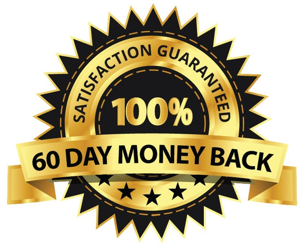 100% satisfaction guaranteed 60 day money back