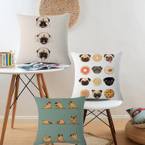 Decorative&Funny Pug Cushion Cover 45*45cm