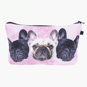 3D Bulldog Make Up Bag for Party Girls