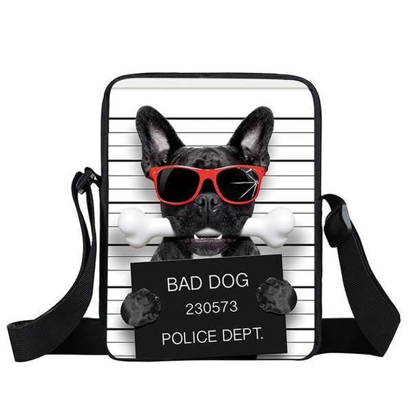 Funny Bad Dog Cross Bags For Teens