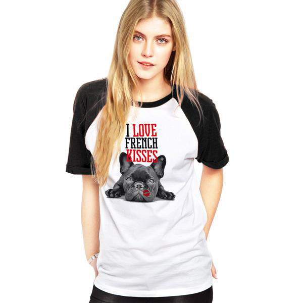 Funny Frenchie kisses T-Shirt
