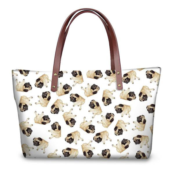 Hot Sale Cute Pug Pattern Women Casual Cross Body Bags