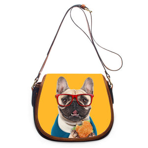 Classic Design Orange French Bulldog Crossbody Bag