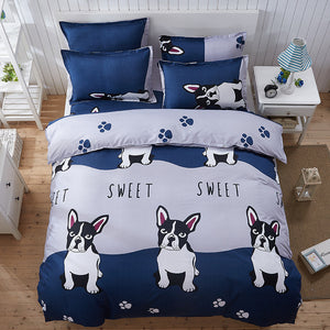 Sweet Frenchie Bedding Set