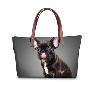 Luxury French Bulldog Shopping Bags