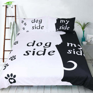 Black White Funny Side Bedding Set
