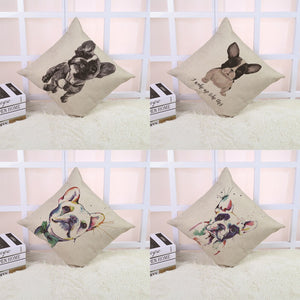 French Bull pattern Cushion Cover