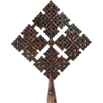 Diamond Head Cross with Large Handle Handmade Wood Ethiopian Coptic Orthodox African Abyssinian Kiosk Christian Jesus