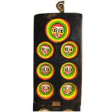GYR Faces Mancala Game Wood Handmade Hand Painted Green Yellow Red African Ethiopian Folding Game Abyssinian Kiosk