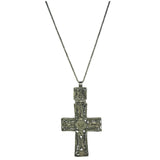 Latin Cross Necklace Intricate Jewelry Design Handmade Pendant Nickel Ethiopian African Ethiopia Abyssinian Kiosk