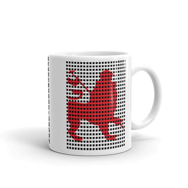 Black Squares Red Lion Kaffa Mug