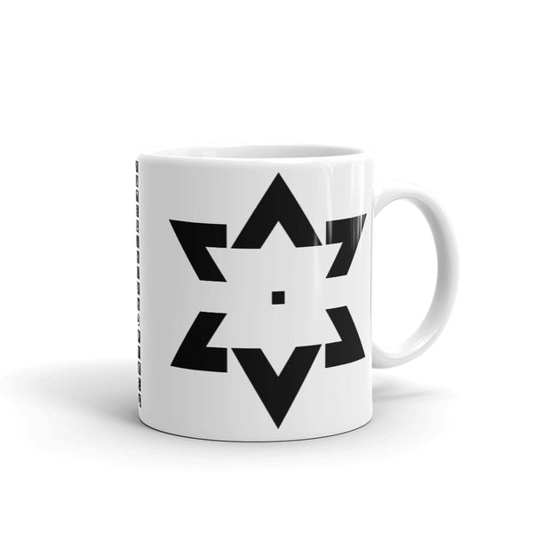 Black Star of David Tips Kaffa Mug