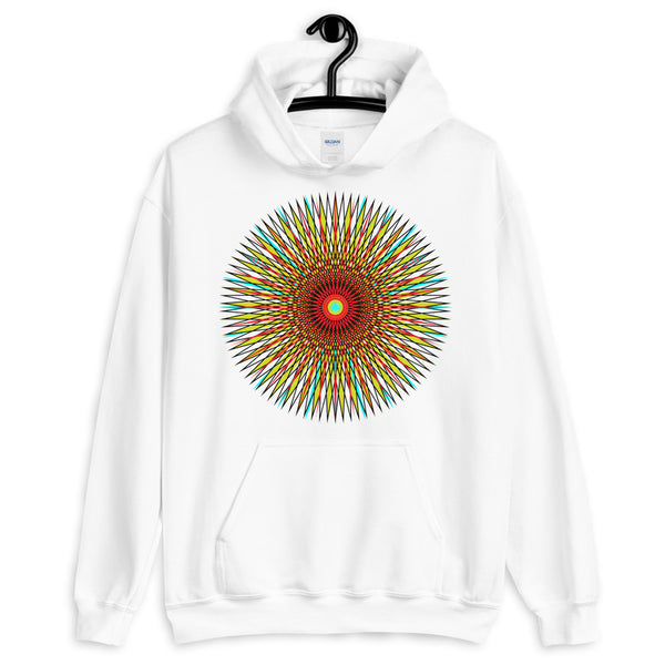 Multi Star Black Unisex Hoodie Abyssinian Kiosk Colorful Iris Fashion Cotton Apparel Clothing Gildan Original Art