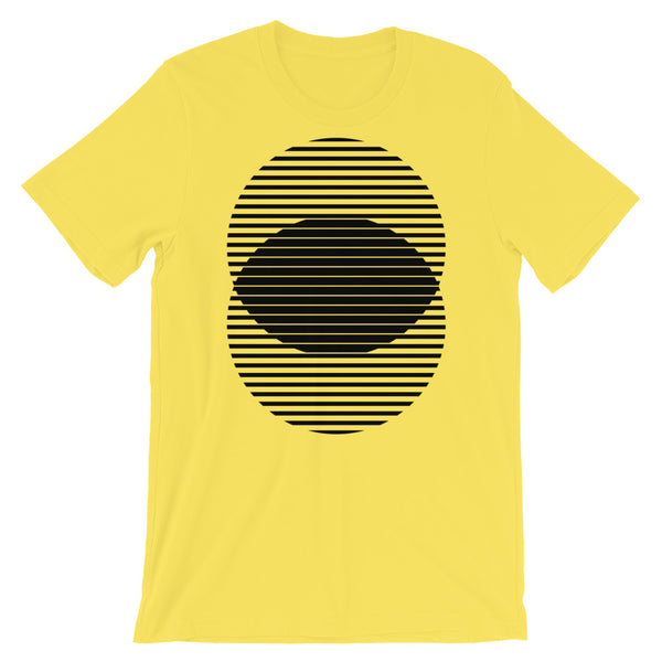 Black Lined Circles Unisex T-Shirt Abyssinian Kiosk Joining Circles Fashion Cotton Apparel Clothing Bella Canvas Original Art
