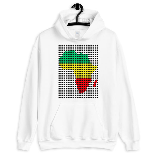 Black Squares GYR Africa Unisex Hoodie Abyssinian Kiosk Green Yellow Red Ethiopian Map African Fashion Cotton Apparel Clothing Gildan Original Art