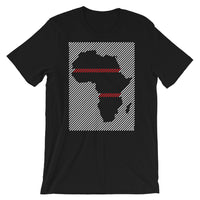 Africa Diagonal Lines White Red Unisex T-Shirt Abyssinian Kiosk Fashion Cotton Apparel Clothing Bella Canvas Original Art
