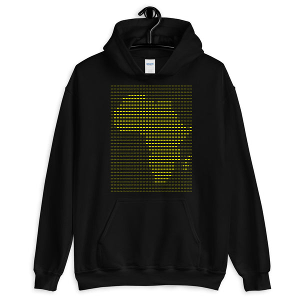 Africa Yellow Dashes Unisex Hoodie Abyssinian Kiosk Scantron Map Gildan Original Art Fashion Cotton Apparel Clothing