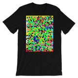 Dots Unisex T-Shirt Bold Colors Abstract Art Abyssinian Kiosk Fashion Cotton Apparel Clothing Bella Canvas Original Art