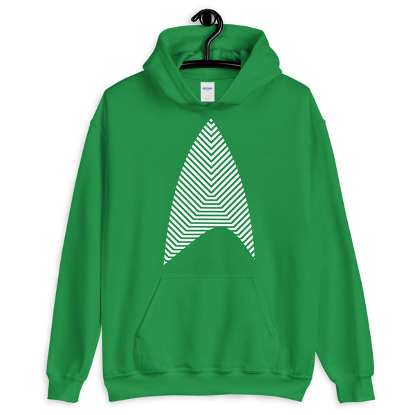 Sisko Kid White Lines Unisex Hoodie Cirroc Lofton Jake Sisko Star Trek Deep Space Nine Combadge Communicator Abyssinian Kiosk Gildan