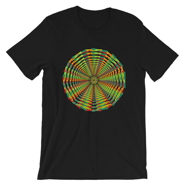 Green Yellow Red Siffate Unisex T-Shirt Ethiopian African Weave Abyssinian Kiosk Fashion Cotton Apparel Clothing Bella Canvas Original Art