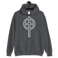 Circle Top White Hollow Cross Unisex Hoodie Abyssinian Kiosk Ethiopian Coptic Orthodox Tewahedo Christian Gildan Original Art Fashion Cotton Apparel Clothing